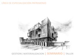 pat seminario i -ii - Escuela de Arquitectura