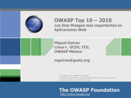 OWASP_Top_10_-_2010 Presentation_ES