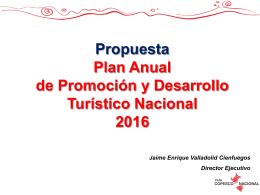 Situación actual - Plan COPESCO Nacional