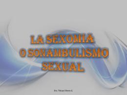 La Sexomnia o Sonambulismo Sexual