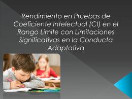 RENDIMIENTO EN PRUEBA CI (329034)