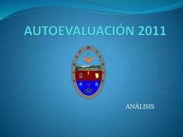 AUTOEVALUACION 2011 - COLEGIO PABLO DE TARSO I.E.D. Se