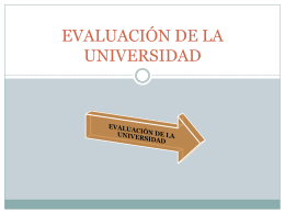 EVALUACIÓN DE LA UNIVERSIDAD