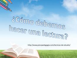 ¿Cómo debemos hacer una lectura? - Educación a Distancia