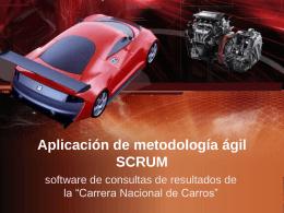 Aplicación de metodología ágil SCRUM