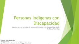 Personas Indígenas con Discapacidad