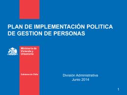 plan de implementación politica de gestion de personas