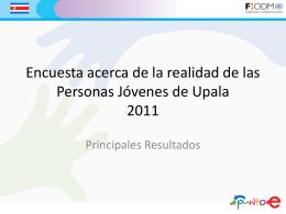 Encuesta acerca de la realidad de las Personas Jóvenes de Upala