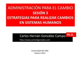 SESION 3 CAMBIOS EN SISTEMAS HUMANOS