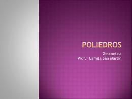 PPT 3_5º_Poliedros - Colegio Monte de Asís