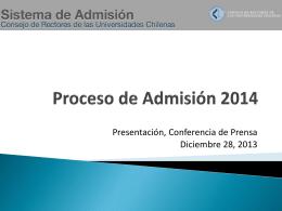 Resultados PSU Proceso de Admisión 2014 Ver Detalle