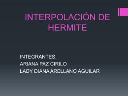 polinomio de Hermite.