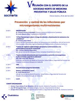 Programa V Reunión-Vitoria abril 2015