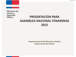 Presentación Jefe Planificación Subsec. Interior