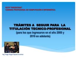 TITULACION - ISTP Argentina