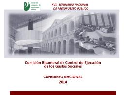 Comisión Bicameral de Presupuesto | Congreso Nacional