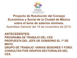 Proyecto de Resolución del Consejo Económico y Social de la