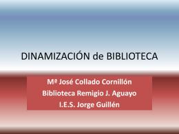 DINAMIZACIÓN de BIBLIOTECA