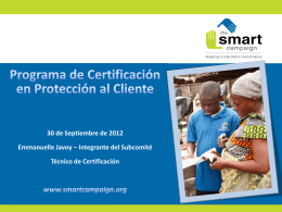 Smart Campaign Certification