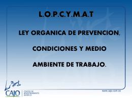 PONENCIA LOPCYMAT - DELEGADOS
