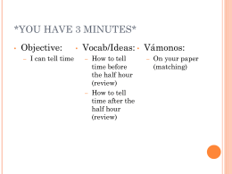 YOU HAVE 3 MINUTES