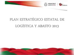 Plan Estratégico Estatal de Logística y Abasto 2013