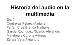 Historia del audio en la multimedia.