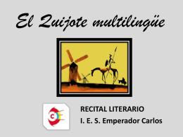 El Quijote multilingüe