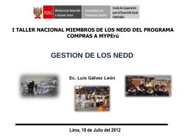 Gestión de los NEDD - Dirección Regional de Educación Cajamarca