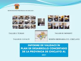 1. Validaacion del PDC - Municipalidad Provincial de Chiclayo