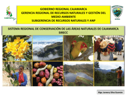 4. Sistema Regional de Conservacion de las Areas Naturales de