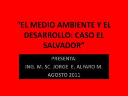 EL MEDIO AMBIENTE Y EL DEASARROLLO-AGOSTO