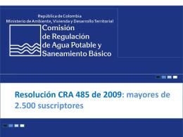 Título III Cargo por Consumo - Comisión de Regulación de Agua