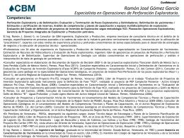 CV Ramon Gomez 01302012 - CBM Ingeniería Exploración y