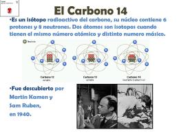 El carbono-14 - Colegio Los Tilos