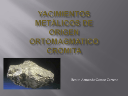CROMITA - yacimientos minerales