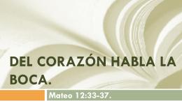 Mateo 12:33 - Familia Semilla