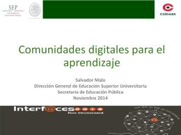 Comunidades Digitales para el Aprendizaje