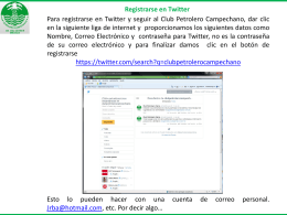 Registrarse en Twitter - Club Petrolero Campechano