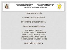 didactica. - Didáctica General: UDB-SMSA