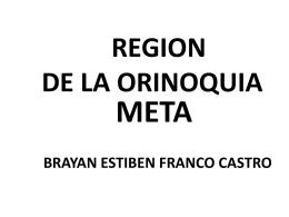 Ver Región de la Orinoquía
