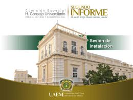 Presentación de la Sesión de instalación de la Comisión Especial