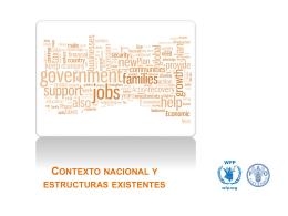 Contexto nacional y estructuras existentes