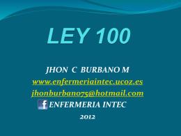 LEY 100 - uCoz.es
