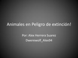 Animales en Peligro de extinción!