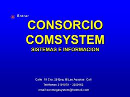 Diapositiva 1 - Consorcio Comsystem
