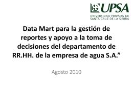 Análisis y Diseño del Data Mart