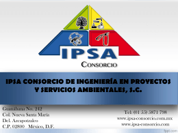 SERVICIOS - IPSA Consorcio