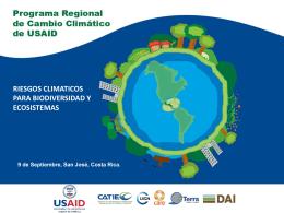 Programa Regional de Cambio Climático y riesgos