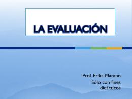 LA EVALUACIÓN - didacticadiferencialI